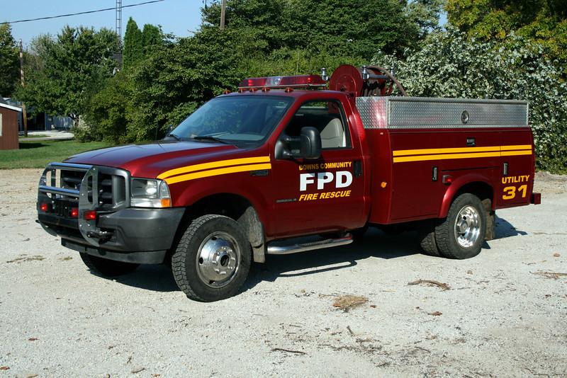 DOWNS COMMUNITY FPD  BRUSH 31  2002 FORD F-550 4X4 - MONROE  125-300