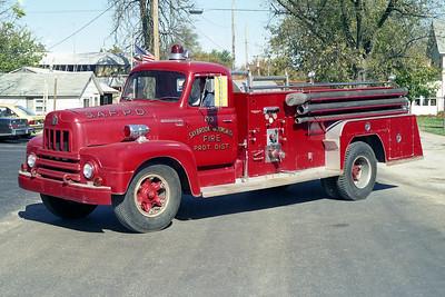 SAYBROOK-ARROWSMITH FPD  TANKER 173 1956  IHC R190 - FIREFIGHTER   500-750   X- SALEM FD WIS