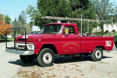 SAYBROOK-ARROWSMITH FPD  BRUSH 182  1966  GMC 4X4 - FD BUILT    125-250