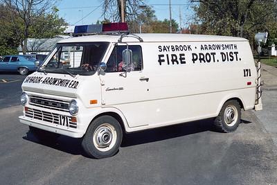 SAYBROOK-ARROWSMITH FPD  SQUAD 171  1973  FORD ECONOLINE VAN