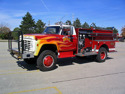 SAYBROOK - ARROWSMITH FPD  BRUSH 184  1975  FORD F600 - FIRE BOSS   250-750   X- PEOPLES GAS
