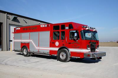 TOWANDA    SQUAD 64  2011 SPARTAN MTERO STAR - CUSTOM FIRE   #11IL01   OFFICERS SIDE
