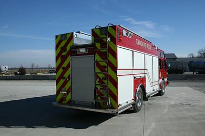 TOWANDA RESCUE 64  SPARTAN - CUSTOM FIRE    REAR VIEW