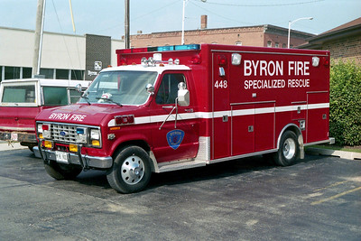 BYRON FPD  RESCUE 448  1988  FORD E350 - MOBILE MEDICAL