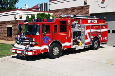 BYRON FPD  ENGINE 403  2008  PIERCE DASH  1500-1000-30A-30B