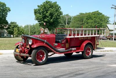 BYRON FPD  ENGINE 1  1929 CHEVY - FD BUILT  340-80 GALLON  CHEMICAL TANK