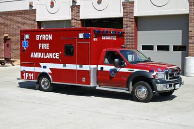 BYRON FPD  AMBULANCE 1-F-11  2006  FORD F-450 - MEDTEC