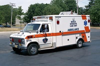 BYRON FPD  AMBULANCE 1-F-12   1986 FORD E250 - HORTON