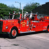 MT MORRIS  LADDER  1956 WLF  750-200-85'  X-DEKALB FD   RON HEAL PHOTO