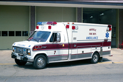ROCHELLE  AMBULANCE 7  1989 FORD - MEDTEC