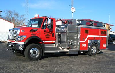 AKRON-PRINCEVILLE FPD  ENGINE 86  FREIGHTLINER - CUSTOM FIRE
