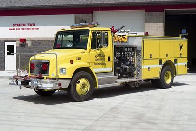 DUNLAP  ENGINE 215  FREIGHTLINER FL80 - PIERCE