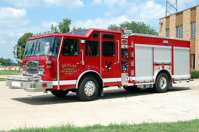 DUNLAP FPD  ENGINE 215  2012 E-ONE TYPHOON  1500-750  BILL FRICKER PHOTO