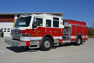 LIMESTONE FPD  ENGINE 326  2016 PIERCE IMPEL   1500-750-30F  #29610   BILL FRICKER PHOTO