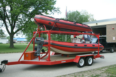 PEORIA RESCUE BOATS AND TRAILER