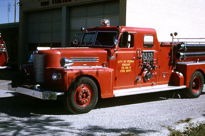PEORIA  ENGINE 15  1957 PIRSCH  1000-500   RON HEAL PHOTO