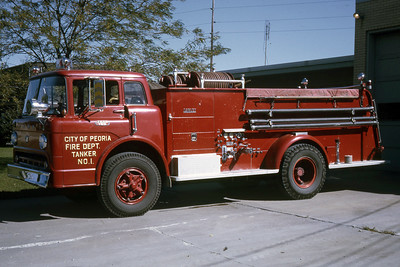 PEORIA  TANKER 1  1965 FORD C - DARLEY  250-1000  RON HEAL PHOTO