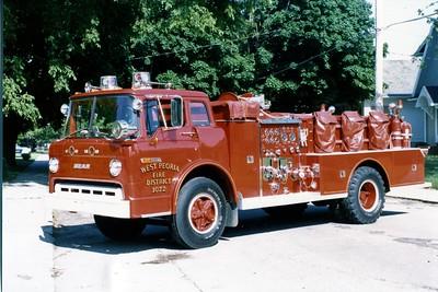 WEST PEORIA  ENGINE 1072  1972 FORD C800 - BEAN  750-500