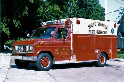 WEST PEORIA  RESCUE 1070  1985 FORD E350 - MARION