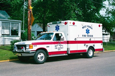 WEST PEORIA RESCUE 1075  1987 FORD F250 - 1978 EXCELLANCE