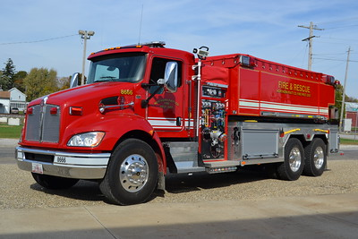 NORTHERN FPD - MANSFIELD IL TANKER 8666  2016 KENWORTH - FOUTS BROTHERS 1000-3000   BILL FRICKER PHOTO