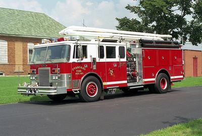 STANDARD ENGINE 1617  1991 PIERCE LANCE   1500-500-20f-54'  SQURT  X- LAS VEGAS FD   E-6129-01