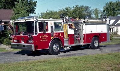 BALDWIN ENGINE 8   1985 HENDRICKSON - E-ONE  1500-1000    #4080