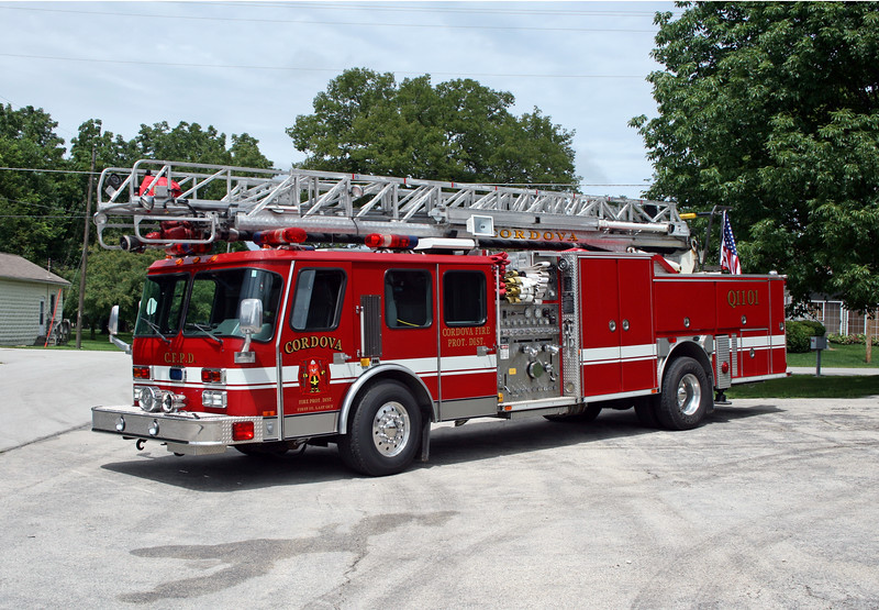 CORDOVA  LADDER 1101  1996 E-ONE HURRICANE 1500-500-75'  #15709  X-KANSAS CITY FD,MO