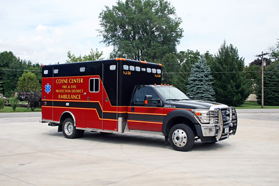 COYNE CENTER  AMBULANCE 1-J-34  2014 FORD F450 - HORTON  #1-021516300