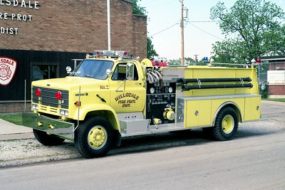 HILLSDALE FPD  ENGINE 2  1989  CHEVY KODIAK - PIERCE   750-1000