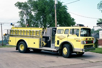HILLSDALE FPD  ENGINE 1  1984  FORD C - PIERCE   750-1000 OFFICERS SIDE