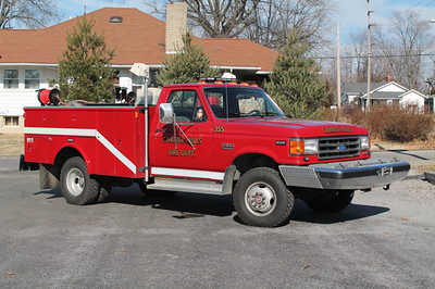 Carrier Mills IL Br355  1989 FORD F350 - READING  150-250-10F   X-APALACHIN FD,NY  FRANK WEGLOSKI PHOTO