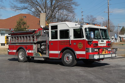 Carrier Mills IL ENGINE 351  1985 PIERCE ARROW  1500-750  X-MEDFORD FD,NY   1999 PIERCE REHAB    FRANK WEGLOSKI PHOTO