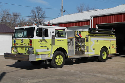 STONEFORT FD  ENGINE 452  1982 HENDRICKSON 1871-S - DARLEY  1250-1000  X-STATE PARK FPD & X - LONG LAKE FPD,IL   FRANK WEGLOSKI PHOTO
