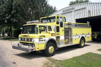 BUFFALO FPD  ENGINE 1  1989  FORD C-8000 - DARLEY   1250-1000