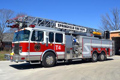 SPRINGFIELD TRUCK 4  1998 SPARTAN - RD MURRAY-AI  1750-300-105'  X-SOUTH LOCKPORT,NY   BILL FRICKER PHOTO