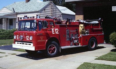 SPRINGFIELD  ENGINE 12  FORD C - WARD LA FRANCE