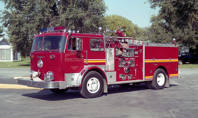 ALORTON  ENGINE  SEAGRAVE  RED - YELLOW STRIPE