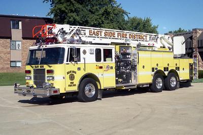 EAST SIDE  LADDER 406  1998 PIERCE LANCE  1250-500-75'   #EB-607
