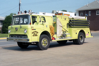 MILLSTADT UNION FPD  ENGINE 31  1977  FORD C - TOWERS   1000-750   #1572
