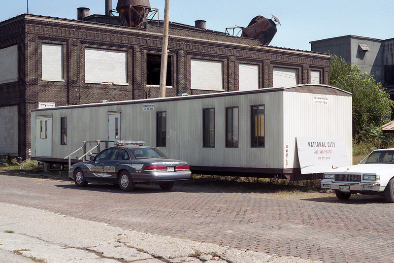 NATIONAL CITY POLICE & FIRE STATION TRAILER AFTER FIRE