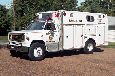 NORTHWEST FD  SQUAD 60  1986 CHEVY - MARION