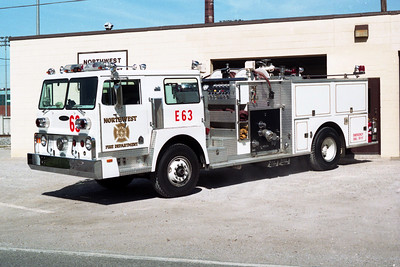 NORTHWEST FD  ENGINE 63  1980 HENDRICKSON 1871 - PIERCE  1000-750   (E-0696-B)