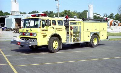 OFALLON - SHILO - CASEYVILLE FPD  ENGINE 5  1987  FORD C - E-ONE   1250-750