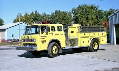 OFALLON - SHILO - CASEYVILLE FPD  ENGINE 4  1980  FORD C - E-ONE   1500-1000