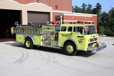 O'FALLON FD ENGINE 4335  1987  FORD C8000 -E-ONE  1250-750   #5632  OFFICERS SIDE