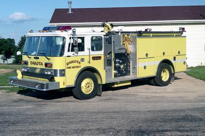 DAKOTA FPD  ENGINE 3401  1991  PIERCE DASH   1000-1000    E-6300