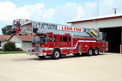 LENA FPD  TOWER 3951  1990  PIERCE LANCE   105' PAP    X- LONG BEACH VFC NY