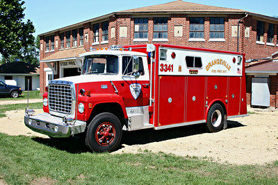 ORANGEVILLE FPD  SQUAD 3341  1978  FORD L800 - MARION   N-7544     MONROE FIRE SCHOOL  2010