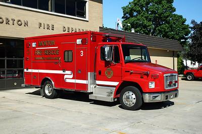 MORTON FD  AMBULANCE 3  2004  FREIGHTLINER FL-50 - MEDTEC   #5634